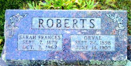 ROBERTS, SARAH  FRANCES - Boone County, Arkansas | SARAH  FRANCES ROBERTS - Arkansas Gravestone Photos