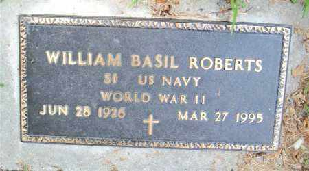 ROBERTS  (VETERAN WWII), WILLIAM  BASIL - Boone County, Arkansas | WILLIAM  BASIL ROBERTS  (VETERAN WWII) - Arkansas Gravestone Photos