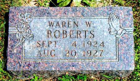 ROBERTS, WAREN  W. - Boone County, Arkansas | WAREN  W. ROBERTS - Arkansas Gravestone Photos