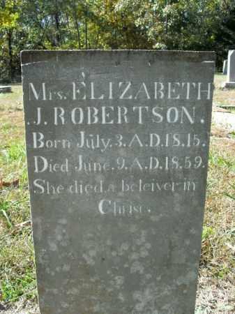 ROBERTSON, ELIZABETH J. - Boone County, Arkansas | ELIZABETH J. ROBERTSON - Arkansas Gravestone Photos