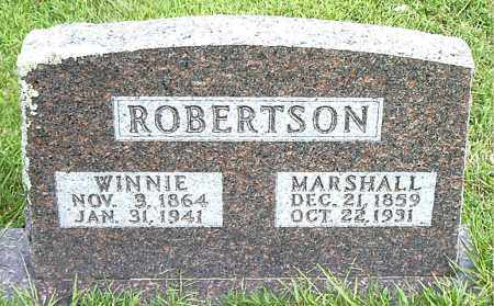 ROBERTSON, MARSHALL - Boone County, Arkansas | MARSHALL ROBERTSON - Arkansas Gravestone Photos