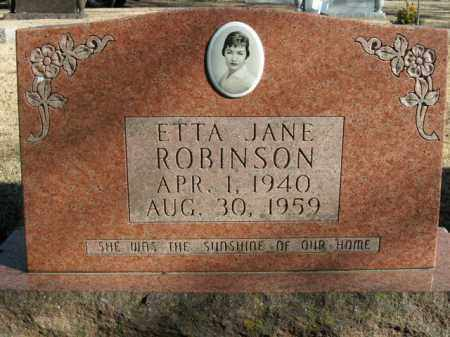 ROBINSON, ETTA JANE - Boone County, Arkansas | ETTA JANE ROBINSON - Arkansas Gravestone Photos