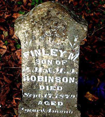 ROBINSON, FINLEY  M. - Boone County, Arkansas | FINLEY  M. ROBINSON - Arkansas Gravestone Photos