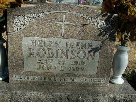 ROBINSON, HELEN IRENE - Boone County, Arkansas | HELEN IRENE ROBINSON - Arkansas Gravestone Photos