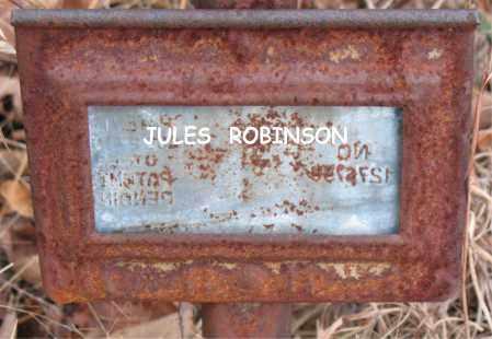 ROBINSON, JULES - Boone County, Arkansas | JULES ROBINSON - Arkansas Gravestone Photos