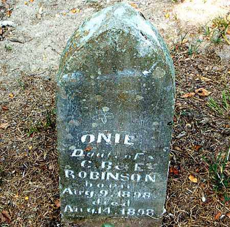 ROBINSON, ONIE - Boone County, Arkansas | ONIE ROBINSON - Arkansas Gravestone Photos