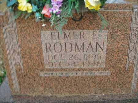 RODMAN, ELMER F. - Boone County, Arkansas | ELMER F. RODMAN - Arkansas Gravestone Photos