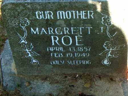 ROE, MARGRETT - Boone County, Arkansas | MARGRETT ROE - Arkansas Gravestone Photos