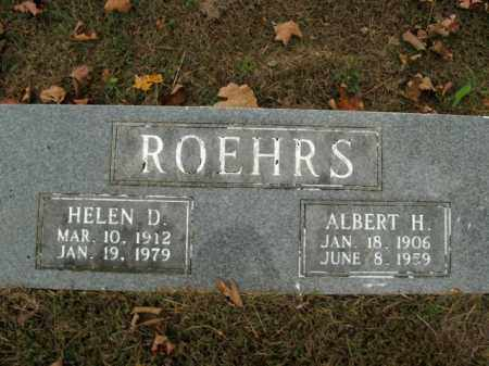 ROEHRS, ALBERT H. - Boone County, Arkansas | ALBERT H. ROEHRS - Arkansas Gravestone Photos