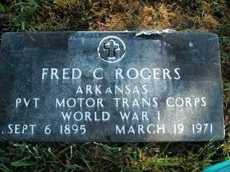 ROGERS  (VETERAN WWI), FRED C - Boone County, Arkansas | FRED C ROGERS  (VETERAN WWI) - Arkansas Gravestone Photos