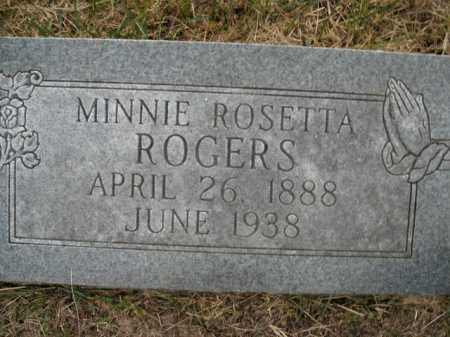ROGERS, MINNIE ROSETTA - Boone County, Arkansas | MINNIE ROSETTA ROGERS - Arkansas Gravestone Photos