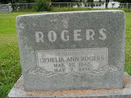 ROGERS, OPHELIA ANN - Boone County, Arkansas   OPHELIA ANN ROGERS - Arkansas Gravestone Photos