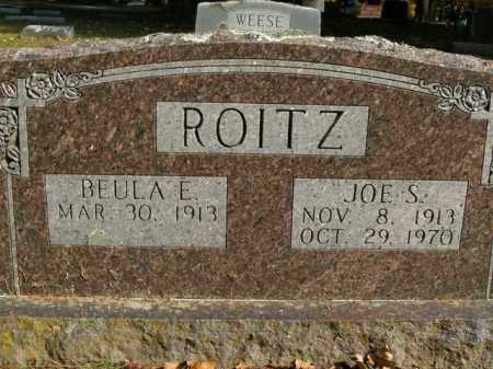 ROITZ, JOE S. - Boone County, Arkansas | JOE S. ROITZ - Arkansas Gravestone Photos