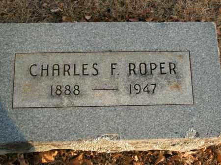 ROPER, CHARLES F. - Boone County, Arkansas | CHARLES F. ROPER - Arkansas Gravestone Photos