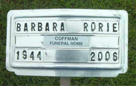 RORIE, BARBARA - Boone County, Arkansas | BARBARA RORIE - Arkansas Gravestone Photos