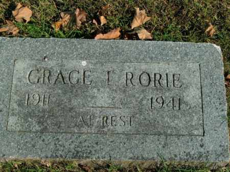 RORIE, GRACE T. - Boone County, Arkansas | GRACE T. RORIE - Arkansas Gravestone Photos