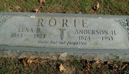 RORIE, LENA B. - Boone County, Arkansas | LENA B. RORIE - Arkansas Gravestone Photos