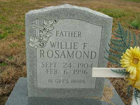 ROSAMOND, WILLIE F. - Boone County, Arkansas | WILLIE F. ROSAMOND - Arkansas Gravestone Photos