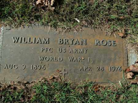 ROSE  (VETERAN WWI), WILLIAM BRYAN - Boone County, Arkansas | WILLIAM BRYAN ROSE  (VETERAN WWI) - Arkansas Gravestone Photos