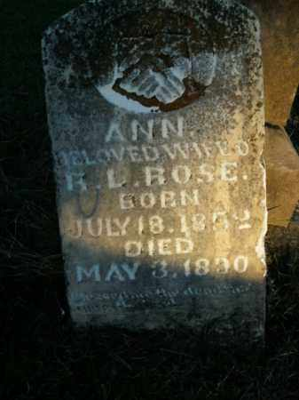 ROSE, ANN - Boone County, Arkansas | ANN ROSE - Arkansas Gravestone Photos