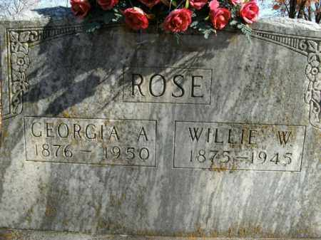 ROSE, WILLIE W. - Boone County, Arkansas | WILLIE W. ROSE - Arkansas Gravestone Photos