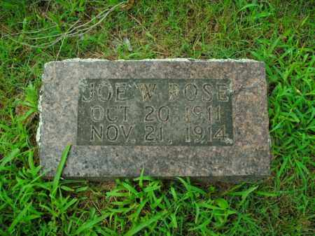ROSE, JOE W. - Boone County, Arkansas | JOE W. ROSE - Arkansas Gravestone Photos