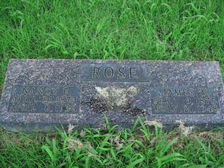 ROSE, JAMES W. - Boone County, Arkansas | JAMES W. ROSE - Arkansas Gravestone Photos