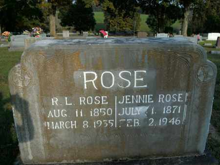 ROSE, JENNIE - Boone County, Arkansas | JENNIE ROSE - Arkansas Gravestone Photos