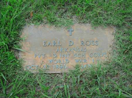 ROSS  (VETERAN WWI), EARL D. - Boone County, Arkansas | EARL D. ROSS  (VETERAN WWI) - Arkansas Gravestone Photos