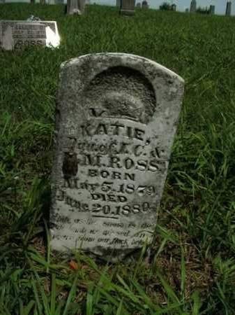 ROSS, KATIE - Boone County, Arkansas | KATIE ROSS - Arkansas Gravestone Photos