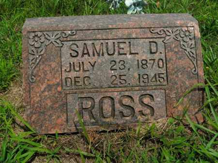 ROSS, SAMUEL D. - Boone County, Arkansas | SAMUEL D. ROSS - Arkansas Gravestone Photos