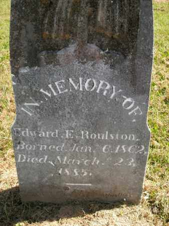 ROULSTON, EDWARD E. - Boone County, Arkansas | EDWARD E. ROULSTON - Arkansas Gravestone Photos