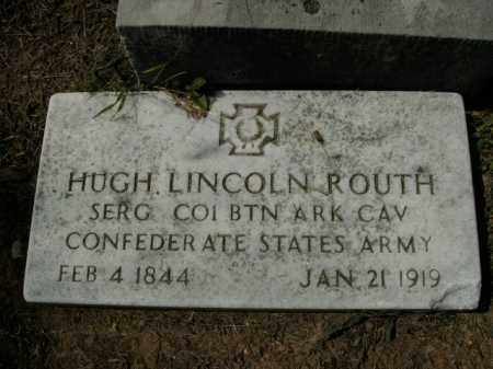ROUTH  (VETERAN CSA), HUGH LINCOLN - Boone County, Arkansas | HUGH LINCOLN ROUTH  (VETERAN CSA) - Arkansas Gravestone Photos