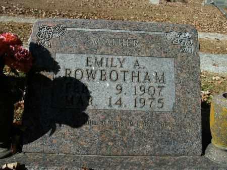 ROWBOTHAM, EMILY A. - Boone County, Arkansas | EMILY A. ROWBOTHAM - Arkansas Gravestone Photos