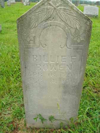 ROWEN, BILLIE F. - Boone County, Arkansas | BILLIE F. ROWEN - Arkansas Gravestone Photos