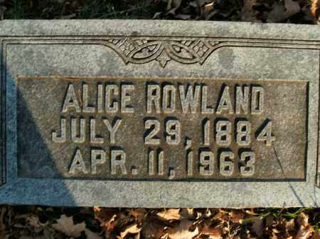 ROWLAND, ALICE - Boone County, Arkansas | ALICE ROWLAND - Arkansas Gravestone Photos
