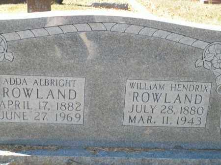 ROWLAND, ADDA - Boone County, Arkansas | ADDA ROWLAND - Arkansas Gravestone Photos