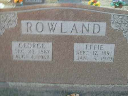 ROWLAND, GEORGE - Boone County, Arkansas | GEORGE ROWLAND - Arkansas Gravestone Photos