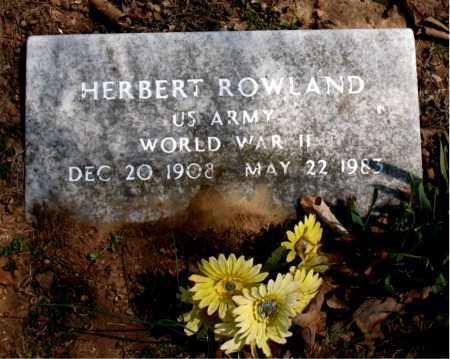 ROWLAND  (VETERAN WWII), HERBERT - Boone County, Arkansas | HERBERT ROWLAND  (VETERAN WWII) - Arkansas Gravestone Photos