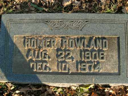 ROWLAND, HOMER - Boone County, Arkansas | HOMER ROWLAND - Arkansas Gravestone Photos