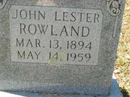 ROWLAND, JOHN LESTER - Boone County, Arkansas | JOHN LESTER ROWLAND - Arkansas Gravestone Photos