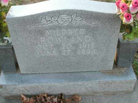 ROWLAND, MILDRED - Boone County, Arkansas | MILDRED ROWLAND - Arkansas Gravestone Photos