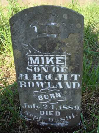 ROWLAND, MIKE - Boone County, Arkansas | MIKE ROWLAND - Arkansas Gravestone Photos