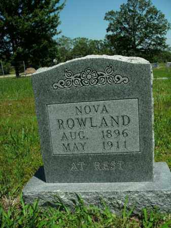 ROWLAND, NOVA - Boone County, Arkansas | NOVA ROWLAND - Arkansas Gravestone Photos