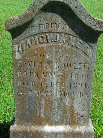 ROWLETT, NANCY JANE - Boone County, Arkansas | NANCY JANE ROWLETT - Arkansas Gravestone Photos
