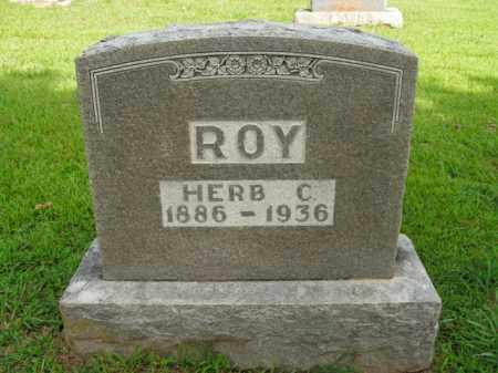 ROY, HERB C. - Boone County, Arkansas | HERB C. ROY - Arkansas Gravestone Photos