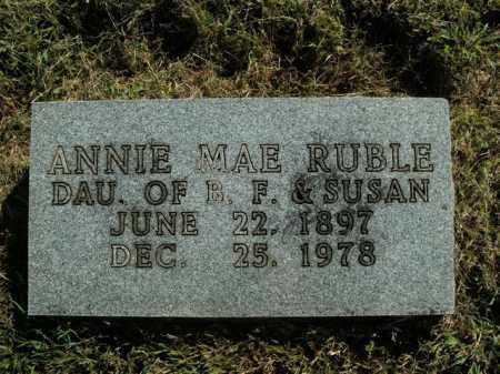 RUBLE, ANNIE MAE - Boone County, Arkansas | ANNIE MAE RUBLE - Arkansas Gravestone Photos