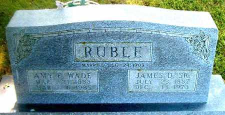 WADE RUBLE, AMY  E - Boone County, Arkansas | AMY  E WADE RUBLE - Arkansas Gravestone Photos