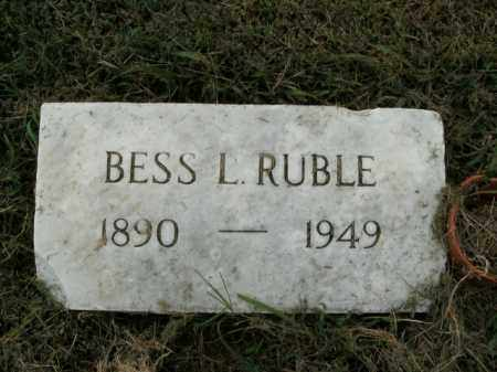 RUBLE, BESS L. - Boone County, Arkansas | BESS L. RUBLE - Arkansas Gravestone Photos