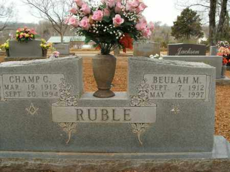 RUBLE, CHAMP C. - Boone County, Arkansas | CHAMP C. RUBLE - Arkansas Gravestone Photos